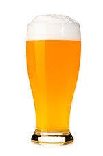 Fresh Pint of unfilted beer