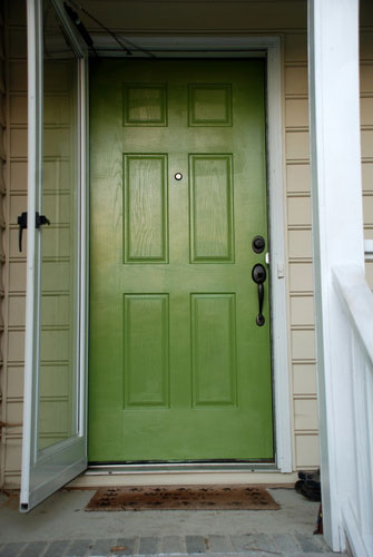 Lively Green Door