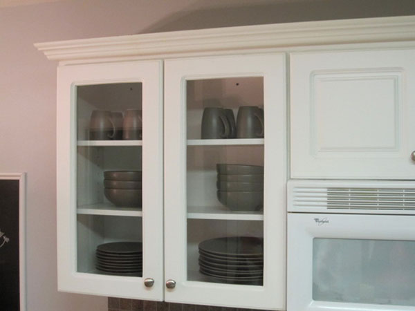 Glassed-in cabinets