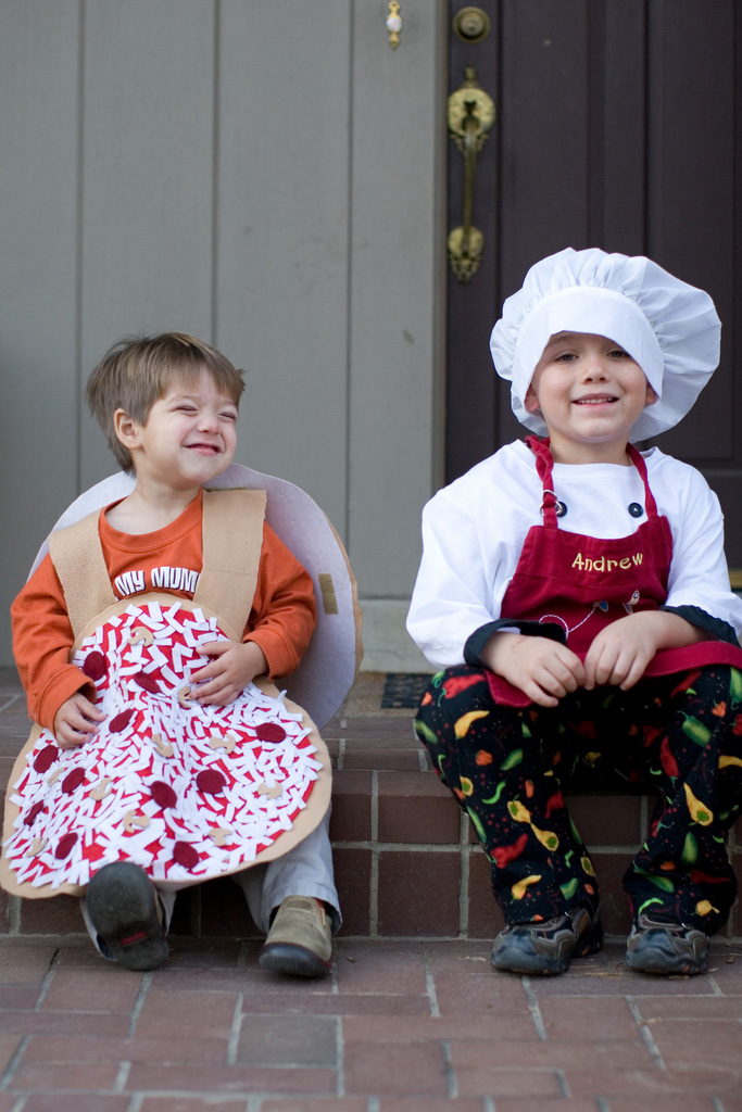 Pizza and chef costumes