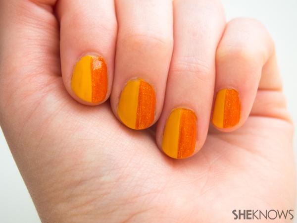 3 Classic plaid nail art designs | Sheknows.com -- orange side