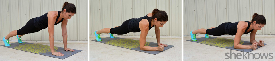 Plank up downs