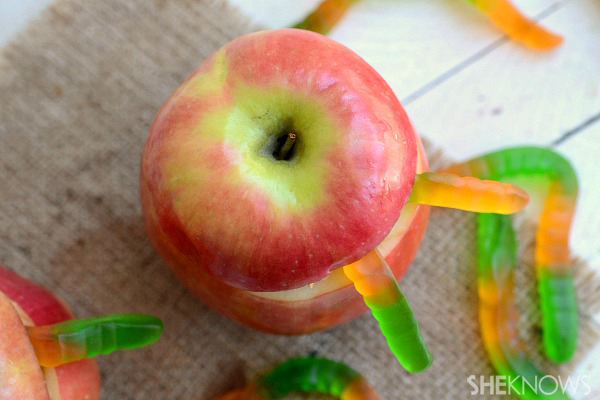 Rotten gummy worm apples