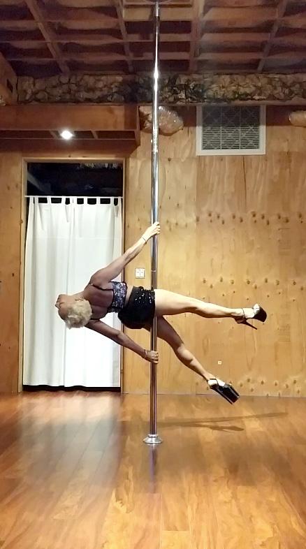 Pole dancing: Makeda Smith