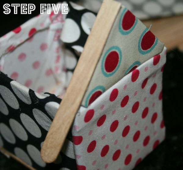 Popsicle stick house step 5