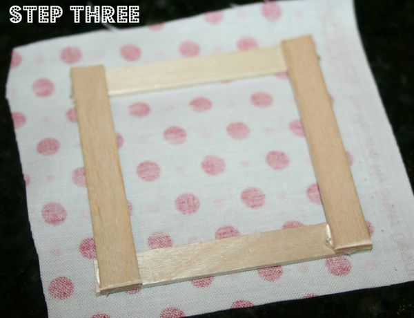 Popsicle stick house step 3