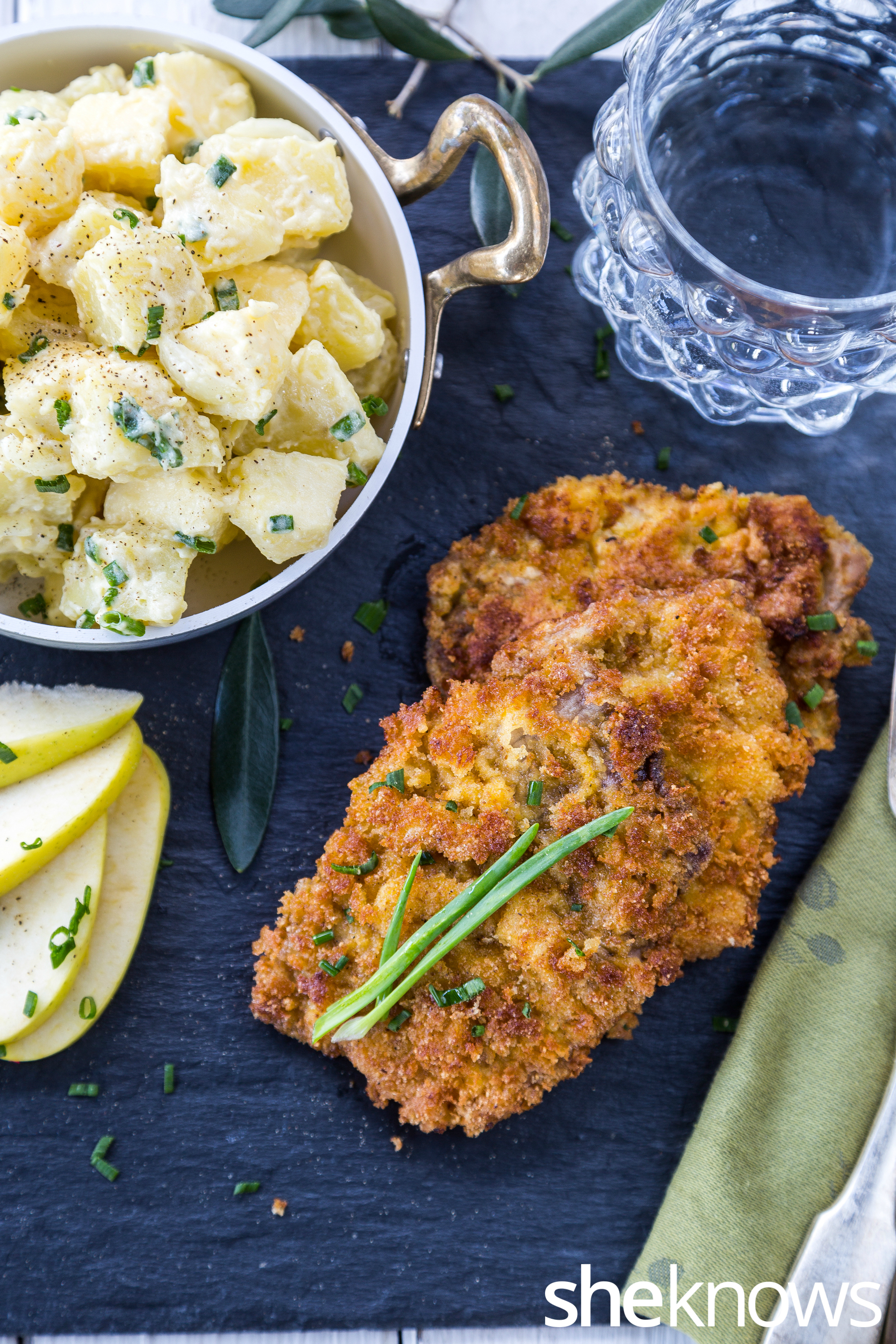 Pork-schnitzel-with-apple-and-potato-salad-vertical