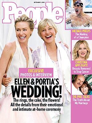 Ellen Degeneres and Portia