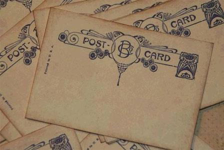 Postcard escort card