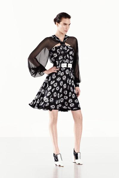 Prabal Gurung black floral dress -Kerry Washington's dress
