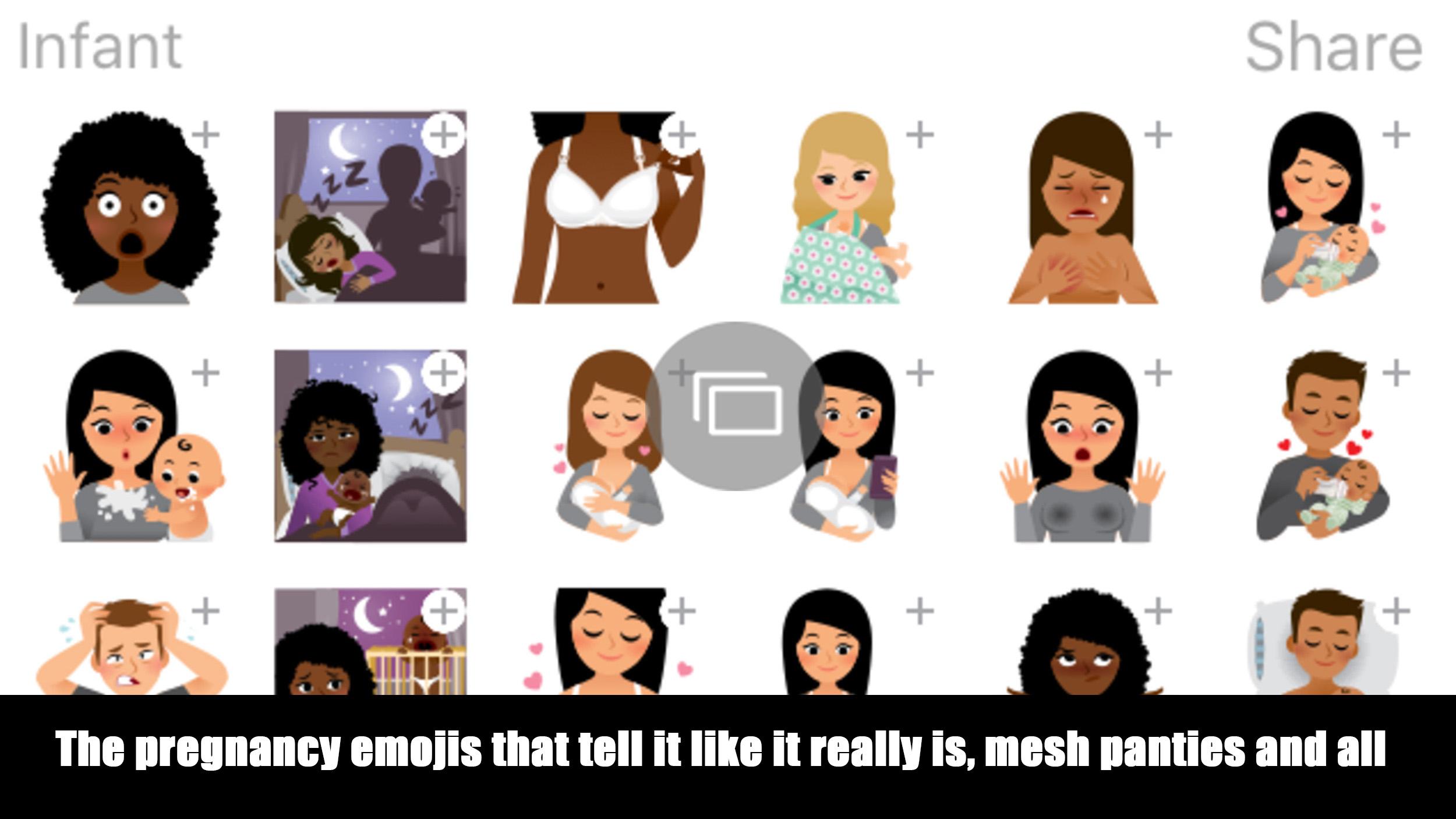 Pregnancy emojis