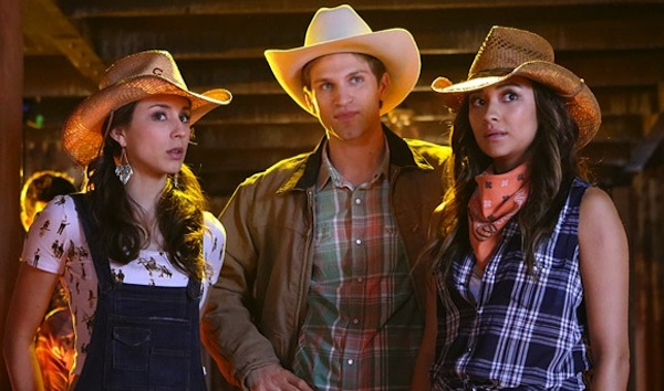 Spencer, Toby and Emily in Pretty Little Liars