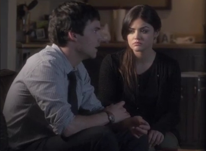 Ezra has an A mug in Pretty Little Liars