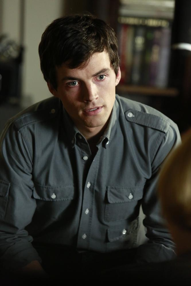 Ezra gets the paternity results in Pretty Little Liars