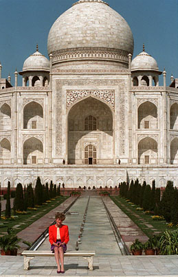 Princess Diana at the Taj Mahal