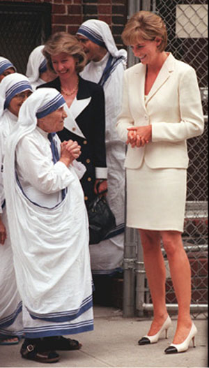 Lady Diana and Mother Teresa