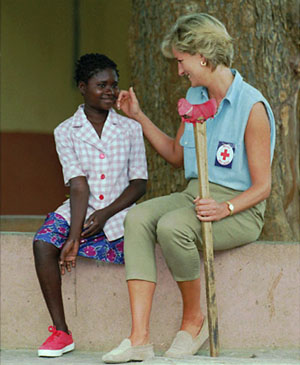Lady Diana in Angola