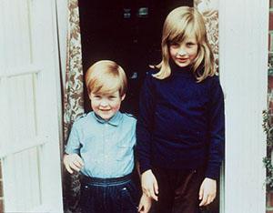 Young Princess Diana and brother