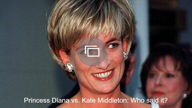 Princess Diana Kate Middleton slideshow