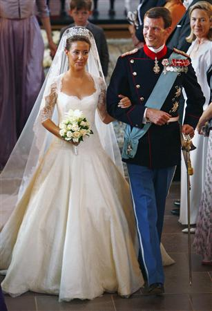 Princess Marie's royal wedding dress