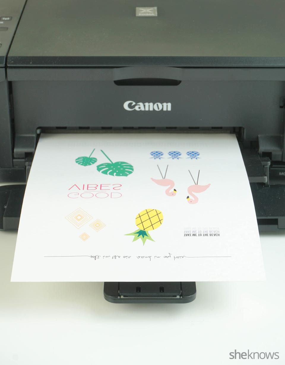 Printable Temporary Tattoos: Step 1 print