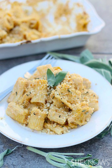 Pumpkin brown butter macaroni and cheese