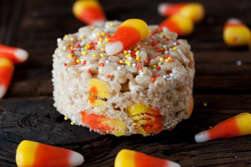 Halloween rice krispy treat