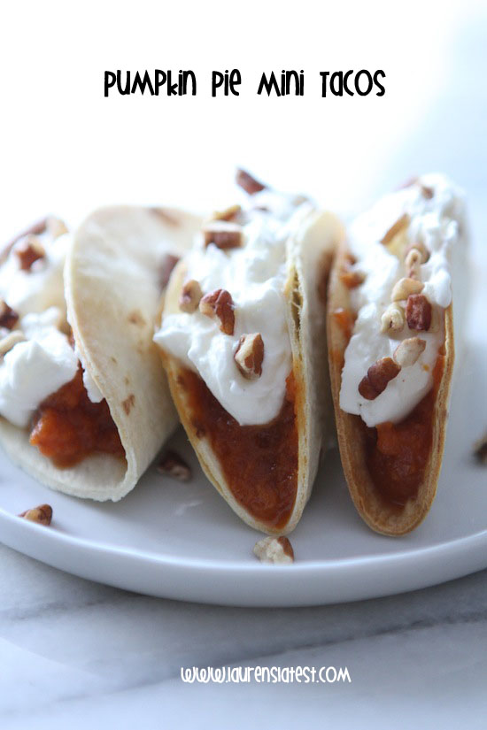 Pumpkin pie mini tacos