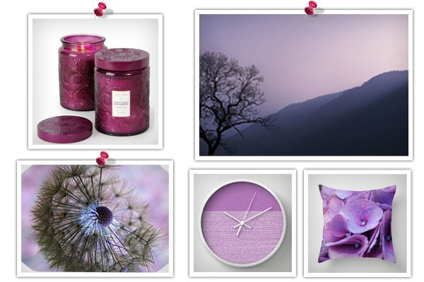 Purple feng shui product collage 2