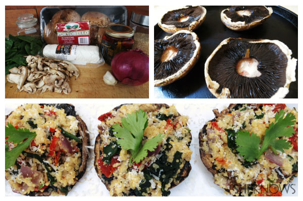 Quinoa stuffed portobello mushrooms | Sheknows.com - recipe steps