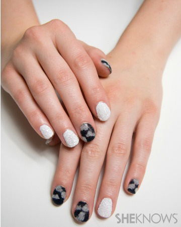 Chunky glitter and furry nails inspired by Rachel Zoe | SheKnows.com