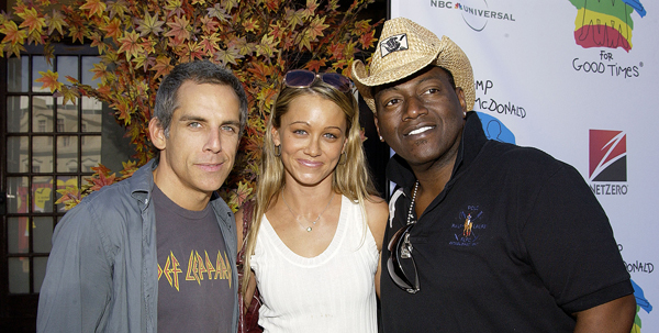 Randy Jackson and friends, Ben Stiller and Christine Taylor