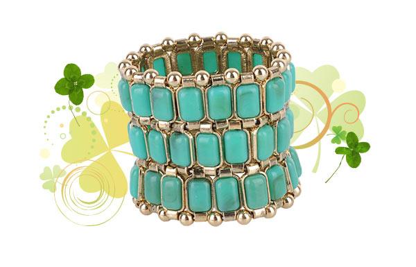 green rectangle bead bracelet Forever 21