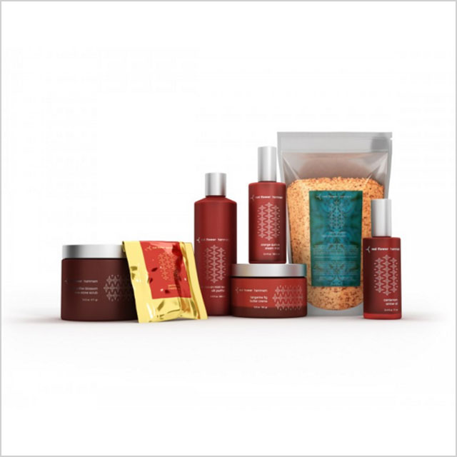 Red Flower The Complete Hammam Set