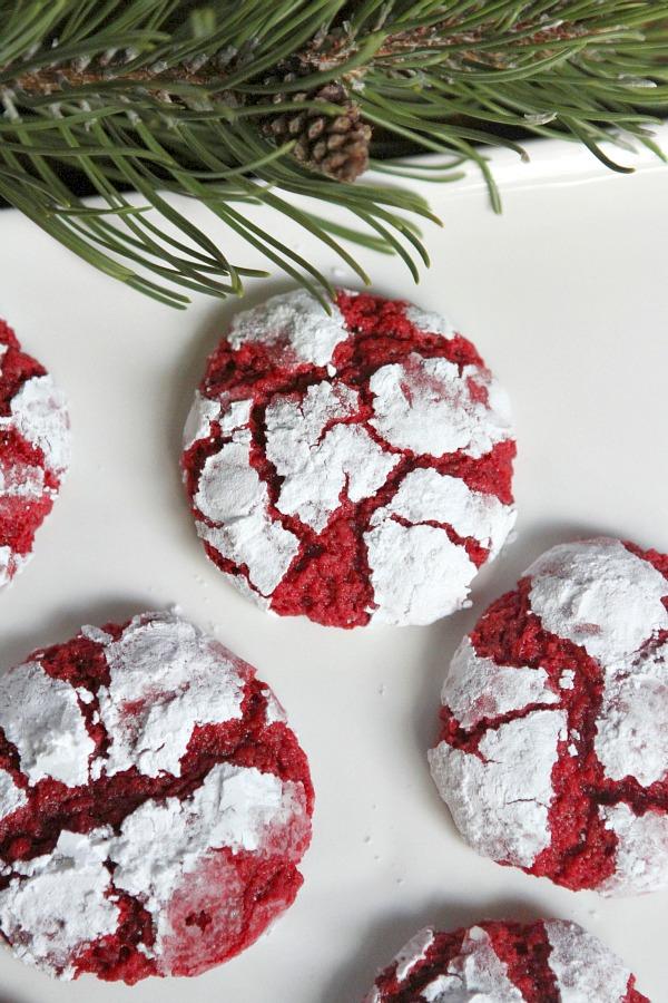 red velvet gooey cookies