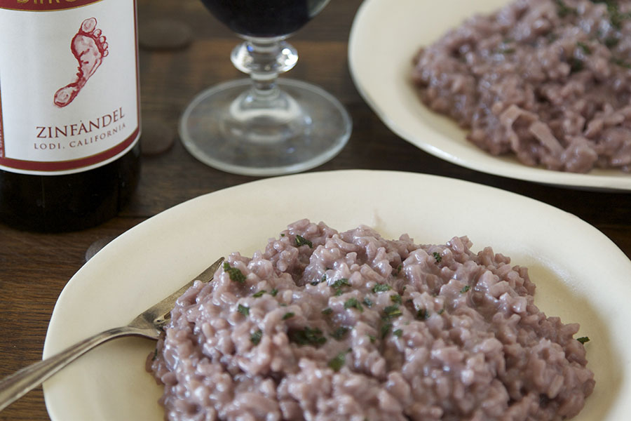 red wine risotto