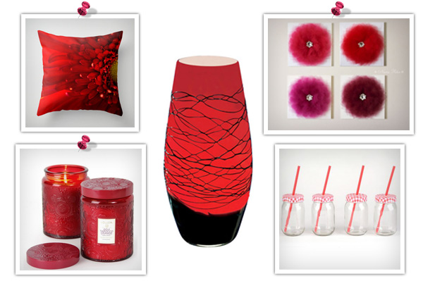 Red feng shui product collage 2