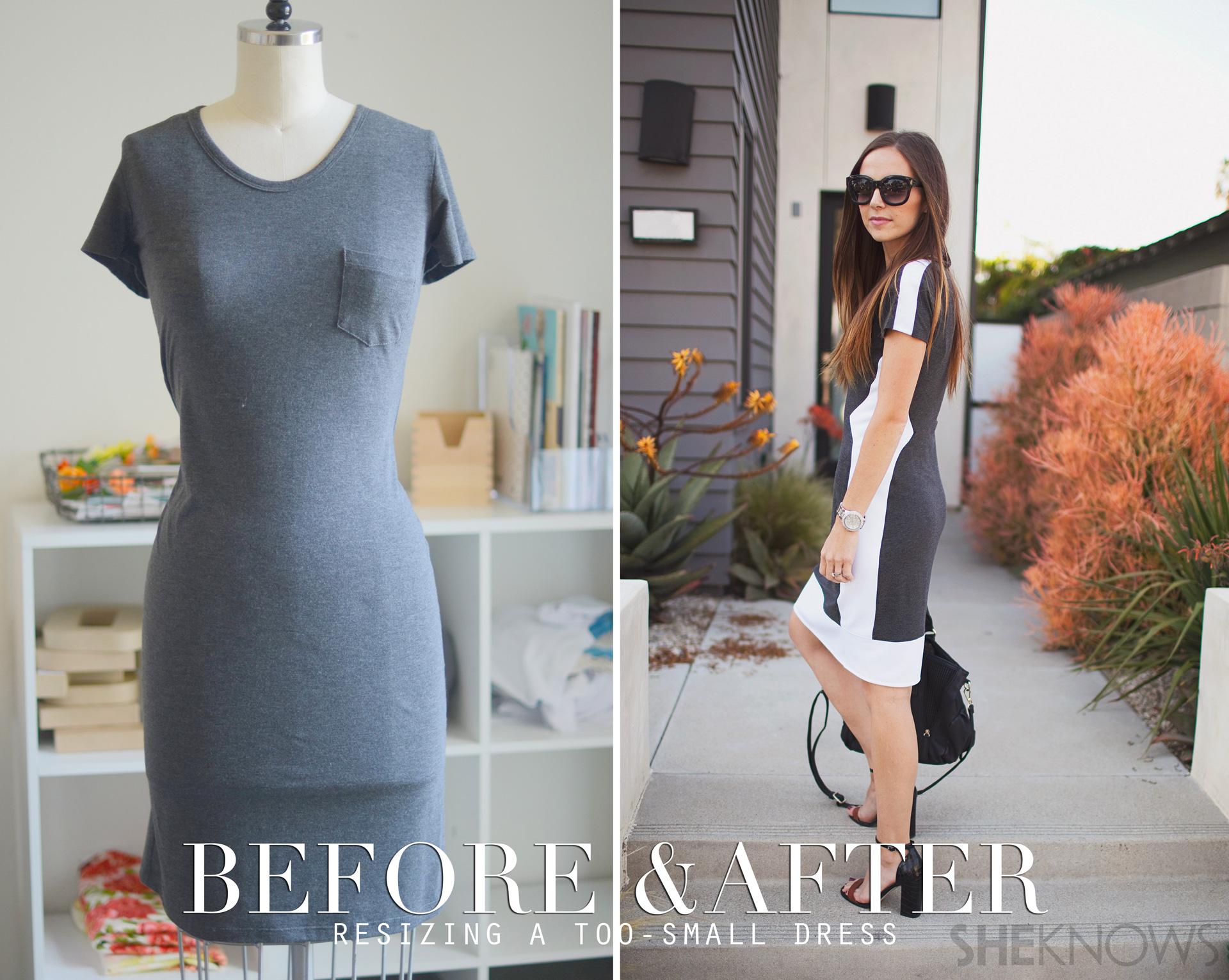 DIY color blocked dress