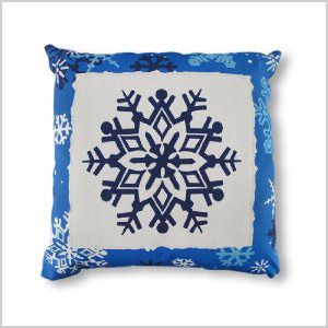 Reversible Winter Crisp Snowflakes pillows