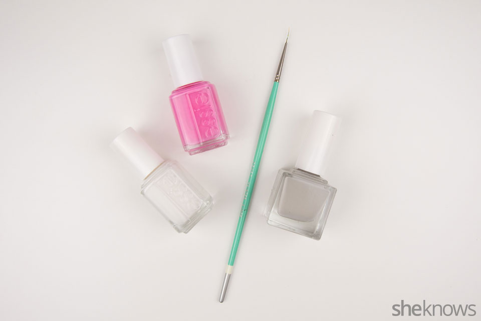 Ribcage Halloween nail design: Supplies