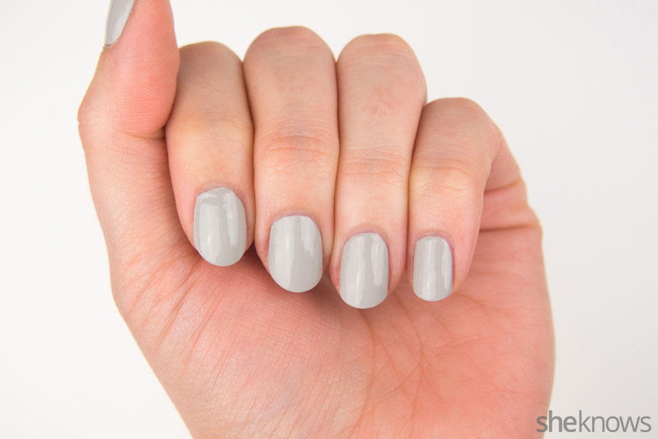 Ribcage Halloween nail design: Step 1