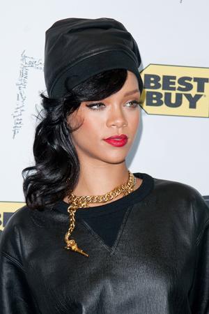Rihanna at meet and greet