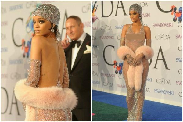Rihanna's bare-there sheer dress