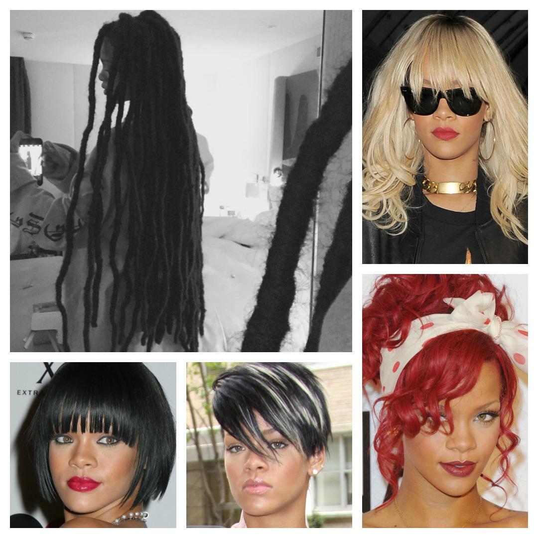Rihanna hair transformation