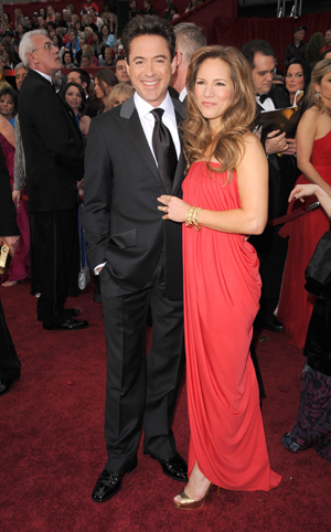 Robert Downey is all smiles at the Oscars