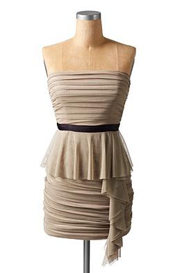 ruched mesh dress