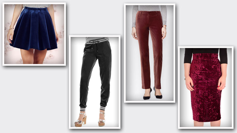 Rule with a velvet pant