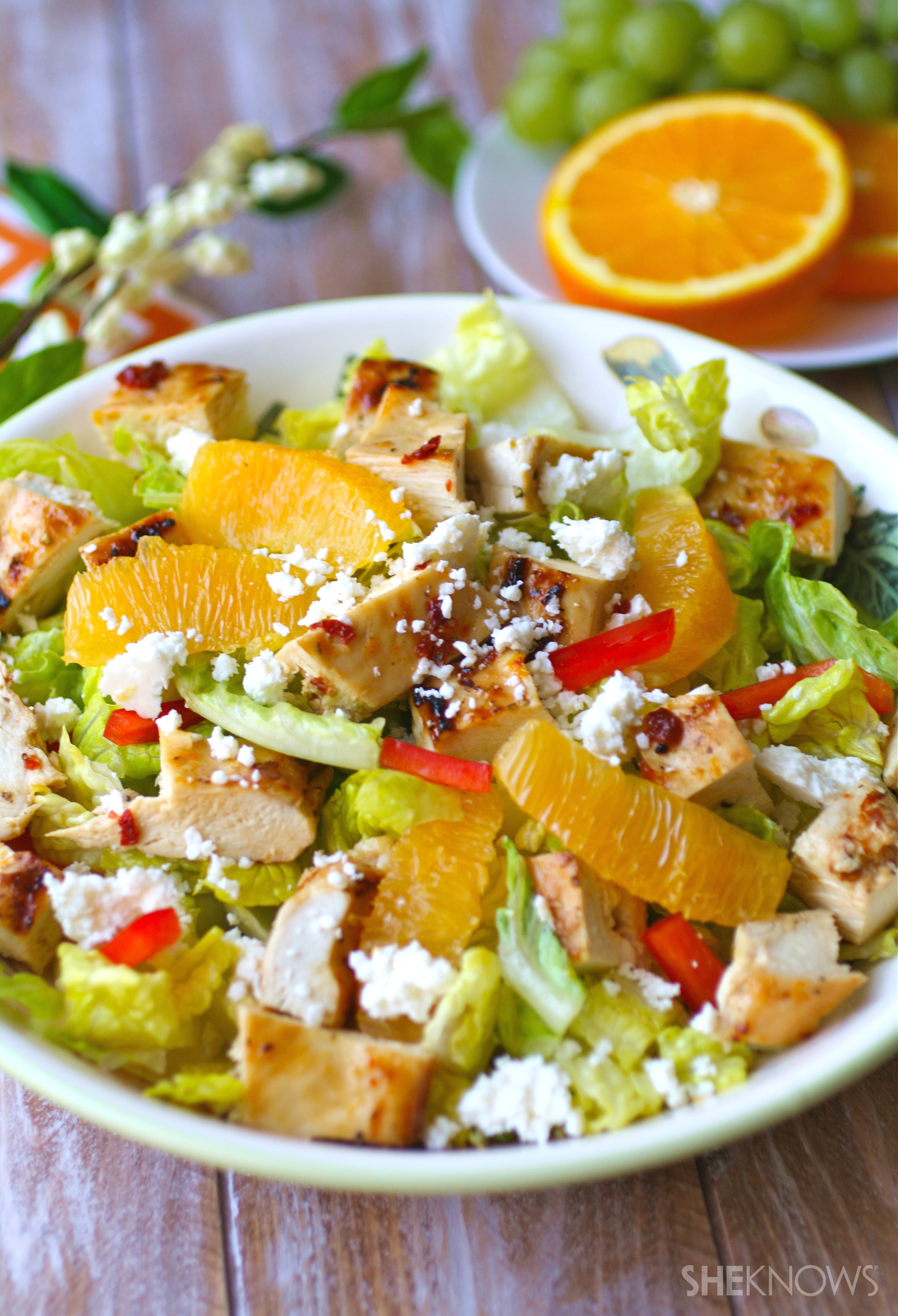 Grilled chipotle-orange chicken salad