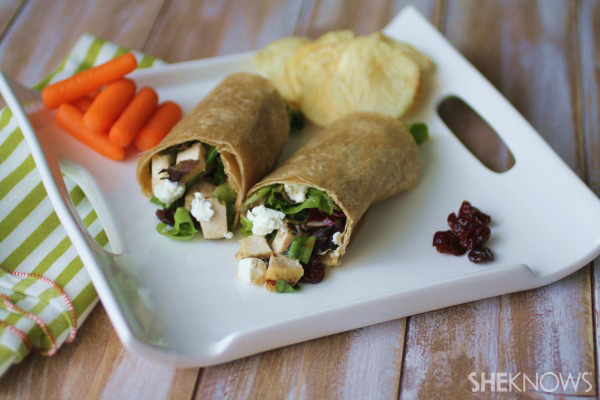 Sunday dinner: Cherry-studded chicken salad wraps