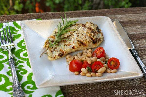 Sunday dinner: Grilled chicken with Dijon mustard marinade